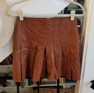 ASTR Brown Leather Mini Skirt